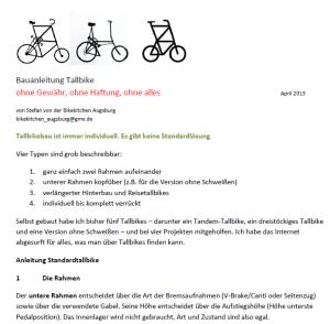anleitung tallbike