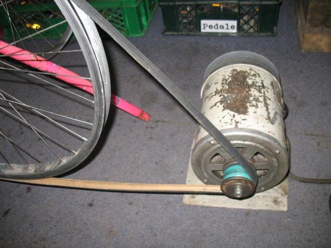 riemenantrieb fahrrad maschine