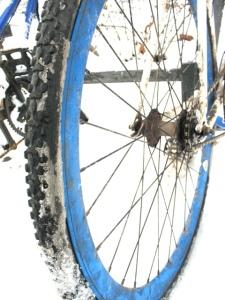 winter augsburg fahrrad